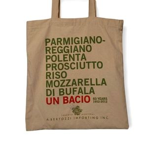 TOTE BAG eco-friendly high quality canvas cute Italian foods foodie tote